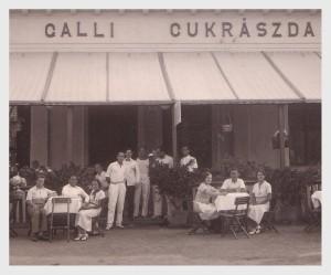 Galli cukrászda 1939-ben